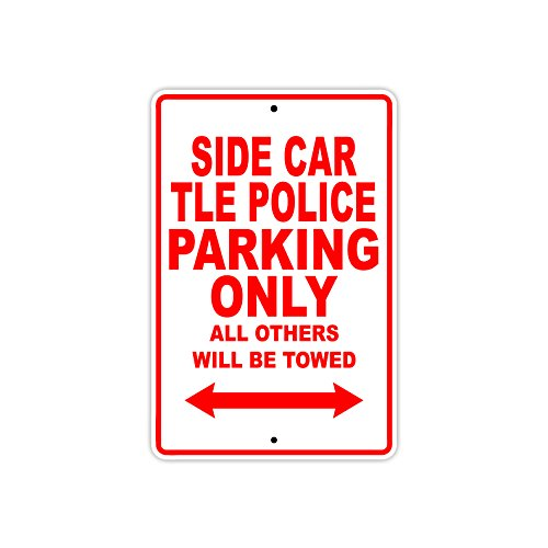 HARLEY DAVIDSON SIDE CAR TLE POLICE Parking Only All Others Will Be Towed Motorcycle Bike Novelty Garage Aluminum 8