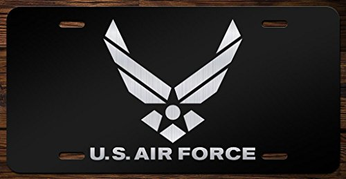 - United States Air Force Emblem Vanity Front License Plate Tag KCE085