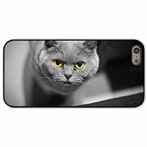 iPhone 5 5S Black Hardshell Case eyes british Desin Images Protector Back Cover