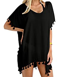 Women Chiffon Tassel Beach Bathing Swimsuit Cover ups