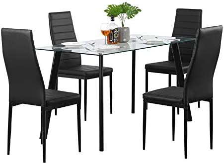 GOTOTOP 5 Piece Dining Room Set Kitchen Table Set