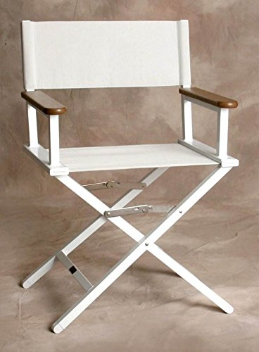 Monterey Silver Director Chair w White Frame