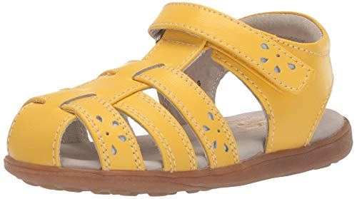 See Kai Run Girls' Gloria IV Fisherman Sandal Yellow 11 M US Little ()