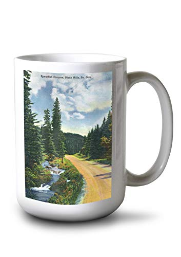 (Lantern Press Black Hills, South Dakota - View of Spearfish Canyon (15oz White Ceramic Mug))