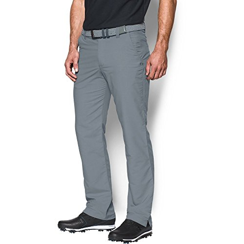 Under Armour Men's Match Play Golf Pants – Straight Leg, Steel/True Gray Heather, 32/34