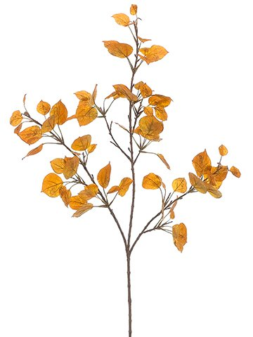 40'' Aspen Spray x3 w/49 Leaves Yellow Gold (pack of 12) by Arcadia Silk Plantation