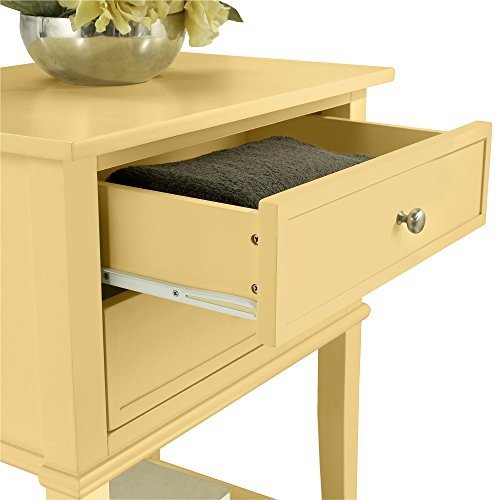 Ameriwood Home 5062496COM Franklin Accent Table 2 Drawers, Yellow by Ameriwood Home (Image #2)