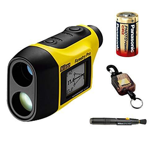 Nikon 8381 Laser Forestry Pro Rangefinder Lens Pen Retractable Rangefinder Tether + Lithium Battery Bundle