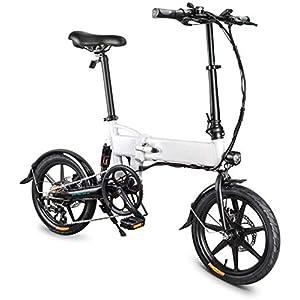415SZju93FL. SS300 Bici elettrica Pieghevole da 16 Pollici, Bici elettrica in Alluminio per Bici elettrica per Adulti con Batteria al Litio…