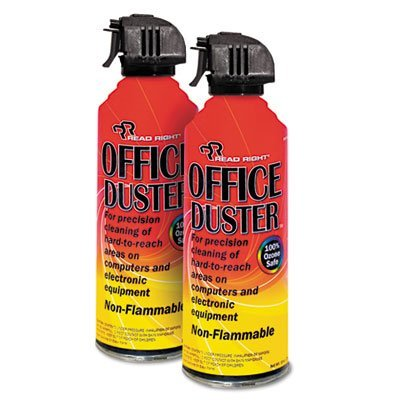 OfficeDuster Plus All Purpose Duster, 2 10oz Cans/Pack, Total 12 PK, Sold as 1 Carton by Read Right