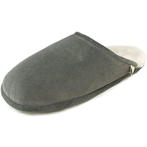 Fellhof Trendy GRA - 45 Unisex Sheepskin Slippers Grey ldeSeZqR1b
