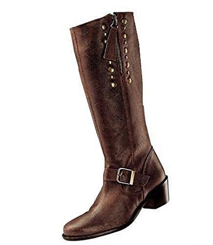 Botas en estilo usado precioso cuero en marrón - marrón, 41