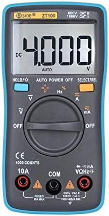 Tyannan ポータブル液晶画面デジタルマルチメータ4000のカウントの電流電圧オームテスターオートレンジ電流計ZT100