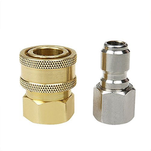 - NUZAMAS 3/8' Male Female Quick Connector Cleaning Machine High Pressure Washer Gun Sprayer Pipe Hose Fitting Parts Adaptors