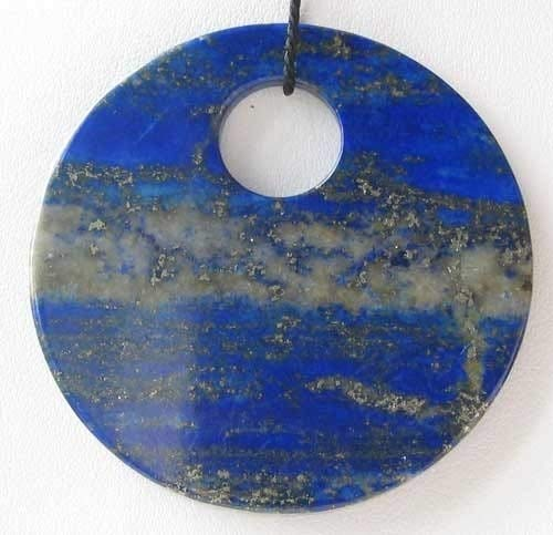 - Starry Night Natural Lapis Disc Pendant Bead for Jewelry Making 9362C