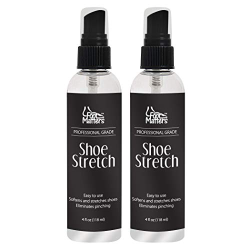 (FootMatters Professional Boot & Shoe Stretch Spray - Softener & Stretcher for Leather, Suede, Nubuck, Canvas - 4 oz (2 pack))