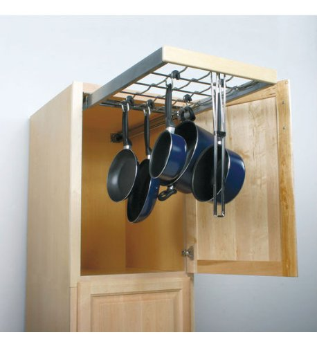 Wall Cabinet Pull-Out Systems with Standard Close Pot & Pan Organizers by Knape & Vogt