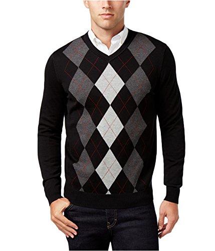 Cotton Argyle Sweater - 3