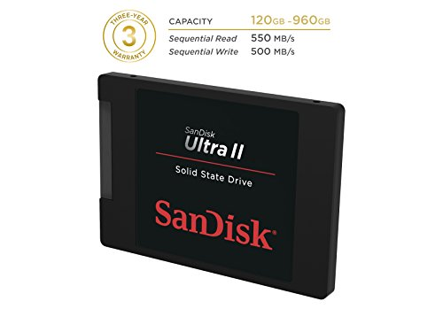 619659110703 - SanDisk Ultra II 120GB SATA III 2.5-Inch 7mm Height Solid State Drive (SSD) With Read Up To 550MB/s- SDSSDHII-120G-G25 carousel main 2