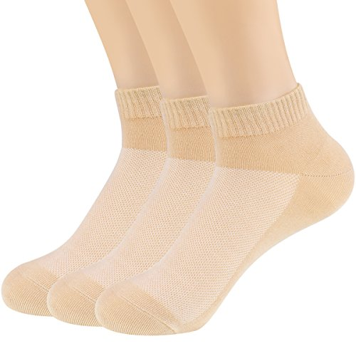 (Womens Bamboo Fiber Casual Low Cut Socks Breathable Athletic Ankle Socks 3Pack)