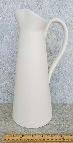Bisque - TALL PITCHER VASE (Unpainted, ready for glaze)