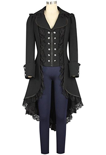 ic Tailcoat Steampunk Jacket Tuxedo Suit Coat Victorian Costume ()