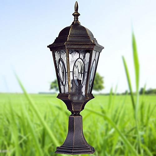 Wapipey Retro Vintage Traditional Column Light Waterproof Outdoor Pillar Light Fence European Villa Garden Lantern Courtyard Landscape Lighting Fixture E27 by Wapipey (Image #1)