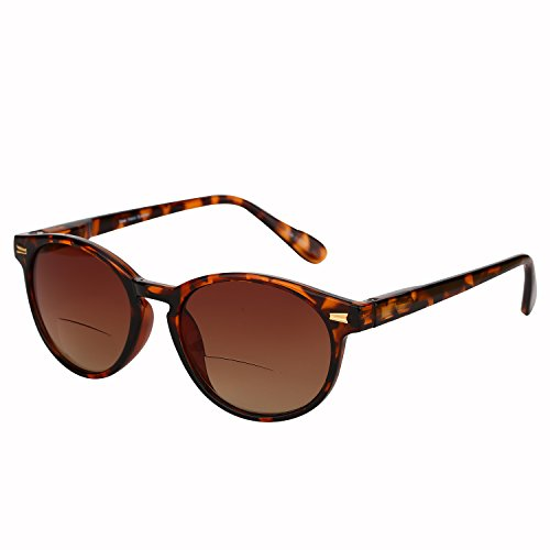 """The Brilliance"" Unisex Bifocal Reading Sunglasses - Outdoor Sun Readers (Tortoise, 2.5)"