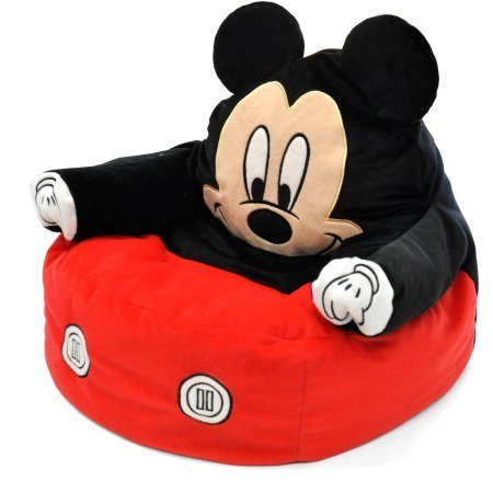 Mickey Mouse Character Figural Toddler Bean Chair by Disney