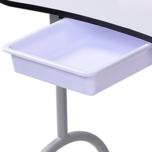 Portable Manicure Nail Table Station Desk Spa Beauty Salon Equipment White Super-comfy wrist cushions Durable plastic drawer for accessories by Marketworldcup (Image #5)