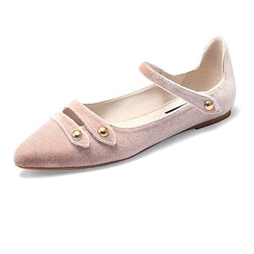 Party Ballet Tamaño Color CN39 EU39 A Ballerina Tobillo Strap Shoes Bridal Zapatillas Womens ZHANGRONG C Ladies UK6 Pumps Flat 1x6qnRzXwf