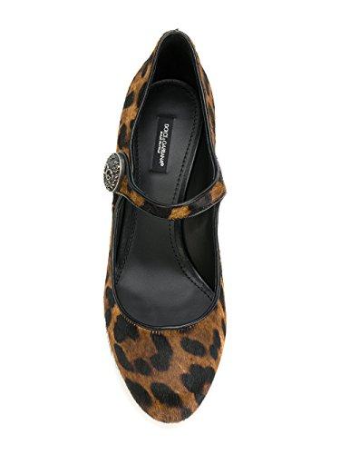 Femme CD0882AI533HAALM Talons À Cuir E Dolce Noir Marron Chaussures Gabbana qAHnwtE
