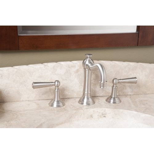 Newport Brass 2470 Double Handle Widespread Bathroom Faucet with Metal Lever Han, English Bronze by Newport Brass