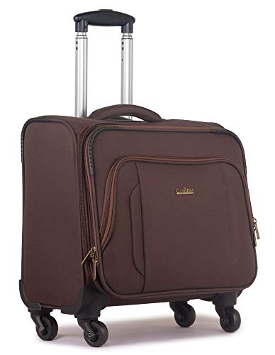 The Clownfish Explorer Unisex Polyester Trolley 4 Wheel Rolling Laptop Case, Luggage Bag  Pecan