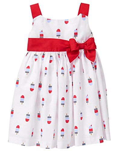 Gymboree Infant Girls Sweet Parade Sundress - White/Red (12-18 Months)