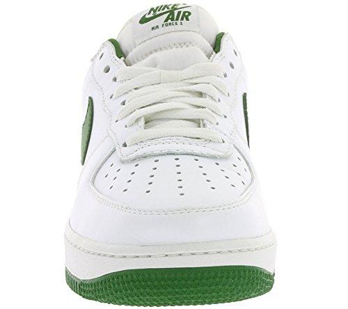 Nike Herren Air Force 1 '07 LV8 Mode Schuhe Licht Armoury Blau / Weiß / Schwarz Gipfel Weiß / Waldgrün
