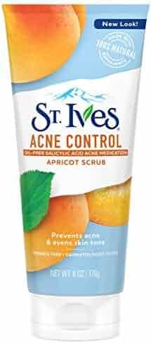 St. Ives Acne Control Face Scrub, Apricot, 6 oz