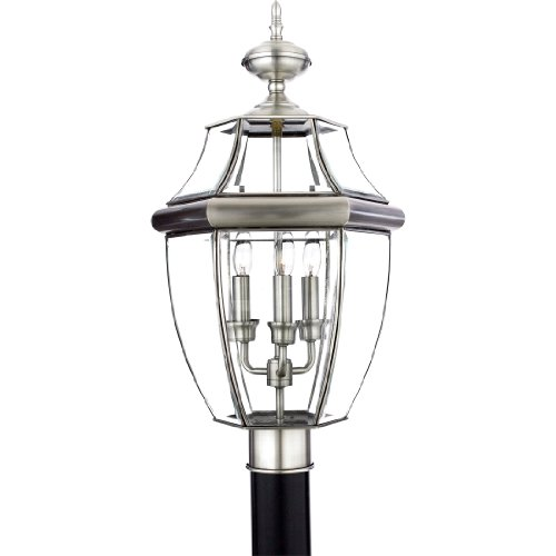 Quoizel Newbury Pewter Outdoor Post Light