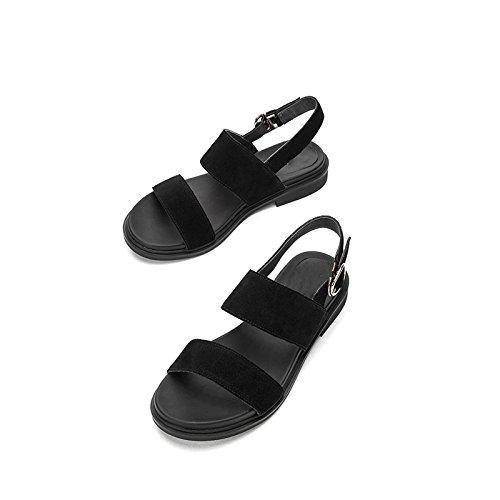 Moda Punta Dulces Zapatillas S Verano de de Sandalias de Color de Sandalias Planas Sandalias Mujer Ocasionales de DHG q6I85Hwq