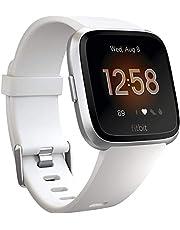 Fitbit  Versa Lite Smartwatches, White Silver Aluminum