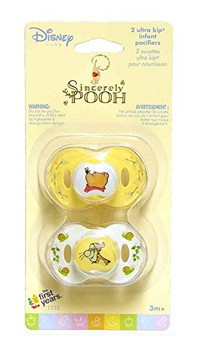 Pacifier Infant Disney (Disney Baby Sincerely Pooh Ultra Kip Infant Pacifiers, 3+ Months)