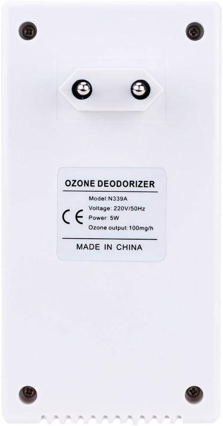Almondcy Mini generador de ozono dom/éstico El generador de ozono enchufable Puede Eliminar el Olor en 10 Minutos.