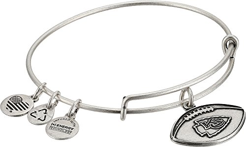 Alex and Ani Women's NFL Kansas City Chiefs Football Bangle Rafaelian Silver One Size