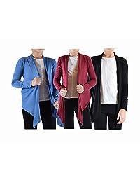 Dinamit Jeans Big Girls' 3 Pack Long Sleeve Flyaway Cardigan Sweater (3-Pack)