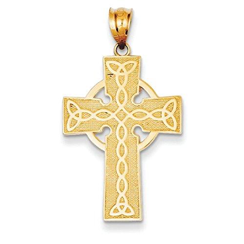 14 Carats Pendentif croix-JewelryWeb irlandais