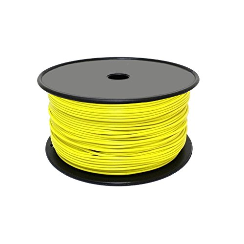 FunAce Burial Grade 20 Gauge Copper Wire - Extra Thick Heavy Duty Single Stranded Solid Insulated Wire Cable Reel - Wire Spool 20AWG 500 Feet - Yellow