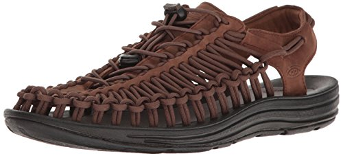 KEEN Uneek Leather Sandalo Bison/Black