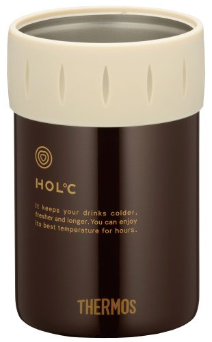 Japanese THERMOS Cold Can Holder for 350ml Brown (350 Ml Cans)