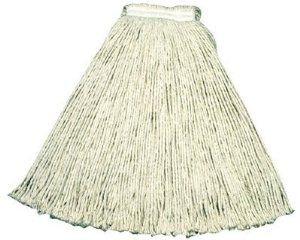 Rubbermaid Commercial V117 Economy Cut-End Cotton Wet Mop Head, 20oz, 1'' Band, White, 12/Carton