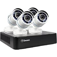Swann Security-in-a-Box Complete 8 Channel Security Monitoring System with 4 Cameras (SWDVK-HDHOMK84)